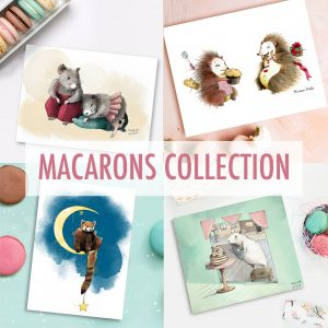 Macarons Collection - sweet and cute art prints